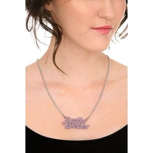 Amazon.com: Justin Bieber Purple Logo Necklace: Jewelry