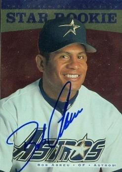 Bob Abreu autographed Baseball Card (Houston Astros) 1995 Upper Deck Star Rookie #258