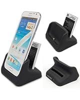 USB Station d'accueil Dock de chargeur+fente de batterie disponible pour Samsung Galaxy Note 2 ii