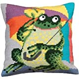 Collection dArt 40 x 40 cm Mr Cora Cross Stitch Cushion Kit
