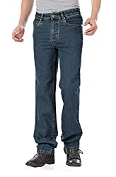 Dragaon Men's Stretchable Relax Fit Jeans (d-815-40_40_Green)