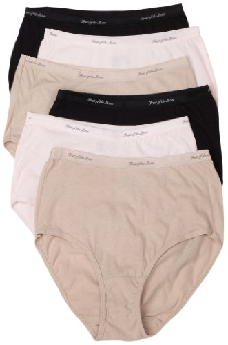 Fruit of the Loom Women's 6-Pack Cotton Body Tone Briefs,Assorted,7