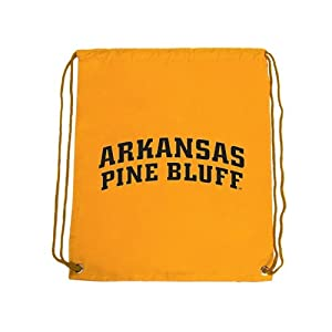 Arkansas Pine Bluff Nylon Gold Drawstring Backpack, Arkansas Pine Bluff