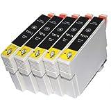 5 schwarz T0711 Kompatibel Tintenpatronen, 5x TO711/TO891 schwarz