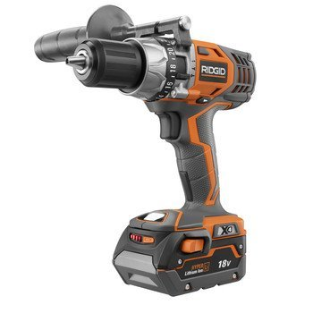 Factory Reconditioned-Ridgid ZRR8611501K 18V Cordless Lithium-Ion X4 1/2-in Hammer Drill Kit