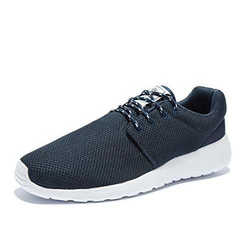 Adi Mens Breathable Comfortable Lace-Up Running Shoes,Walk,Beach Aqua,Outdoor,Exercise,Athletic Sneakers EU42 Dark blue