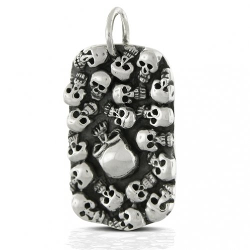 dog tag necklaces for men. Dog tag pendant; Multi Skull