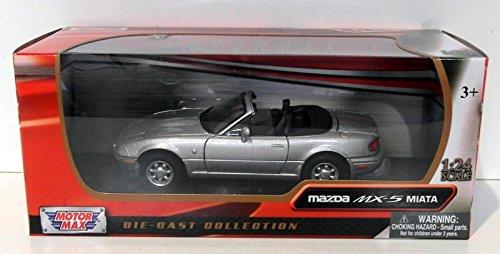 1-24-scale-73262s-mazda-mx5-roadster-mk1-miata-eunos-silver-model-car