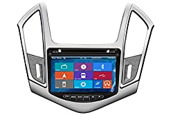 See Crusade Car DVD Player for Chevrolet Cruze 2013- Support 3g,1080p,iphone 6s/5s,external Mic,usb/sd/gps/fm/am Radio 8 Inch Hd Touch Screen Stereo Navigation System+ Reverse Car Rear Camara + Free Map Details