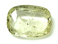 LOOSE 100% NATURAL & CERTIFIED 4.36 ct. YELLOW SAPPHIRE BIRTHSTONE BY ARIHANT GEMS & JEWELS