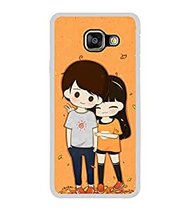 Cute Couple 2D Hard Polycarbonate Designer Back Case Cover for Samsung Galaxy A7 (2016) :: Samsung Galaxy A7 2016 Duos :: Samsung Galaxy A7 2016 A710F A710M A710FD A7100 A710Y :: Samsung Galaxy A7 A710 2016 Edition