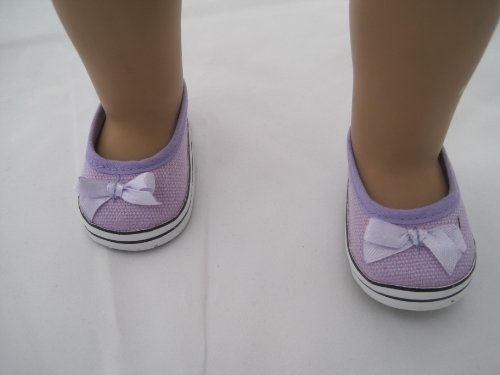Casual Purple Shoe with Bow for American Girl Doll and 18 Inch Dolls - 1