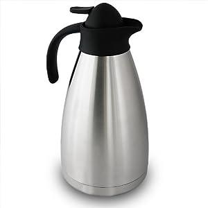Thermokanne XXL 2 Liter doppelwandiger Edelstahl