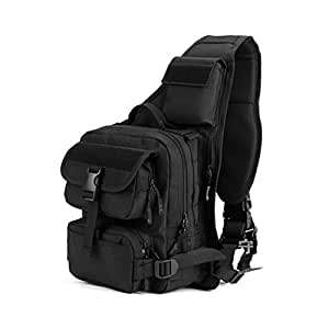 YAAGLE Mens Army Military Nylon Multi-functional Multi-pocket Outdoor Sports Running Biking Hiking Camping Travel Pack Cross-body Shoulder Chest Hand Bag Gear Photography DSLR Camera Bag