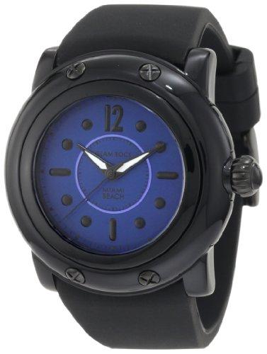 Glam Rock Women's GR25045 Miami Beach Dark Blue Dial Black Silicone Watch
