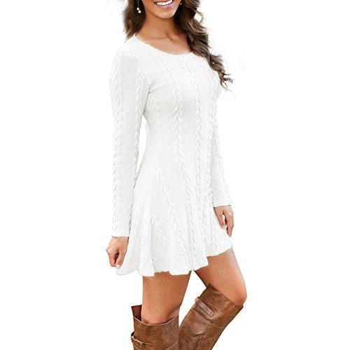 womens-knitted-jumper-dress-knitwear-slim-long-sleeve-jumper-swing-sweater-dress-tops-white