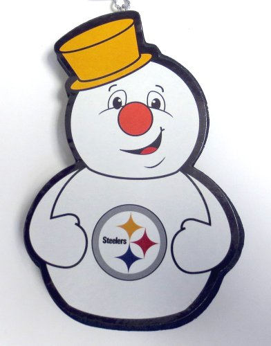 Pittsburgh Steelers Snowman Team Ornament at Steeler Mania
