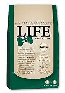 LIFE4K9 Lamb and Barley Formula Dry Dog Food for All Dogs, 30 Pounds