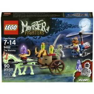 Toy / Game Impressive Lego Monster Fighters 9462 The Mummy With Accessories, Mummy's Chariot And Helicopter
