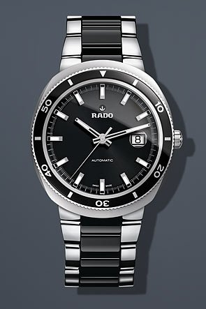Rado D Star Black Dial Stainless Steel Mens Watch R15959152