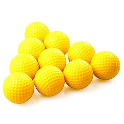 Aketek Practice Golf Balls, Foam, 12 Count, Yellow