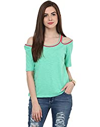 Cold Shoulder T Shirt Small
