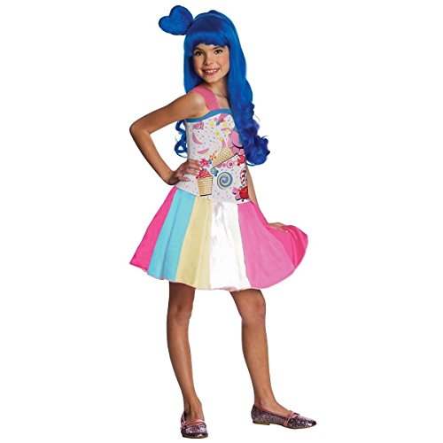 GSG Katy Perry Costume Kids California Gurls Candy Halloween Fancy Dress (Katy Perry Candy)