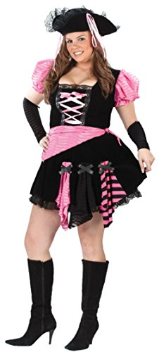 Funworld Womens Sexy Pirate Pink Punk Theme Party Fancy Halloween Costume