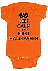 Festive Threads Keep Calm It's My First Halloween Baby Bodysuit