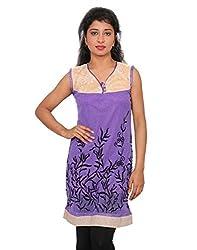 Ninelions fashions Purple & Biscuit colour Top