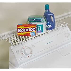 laundry supplies storage shelf