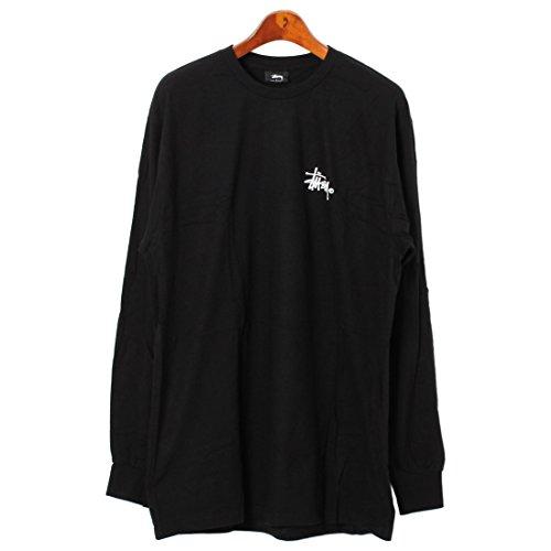 (ステューシー)STUSSY LS BASIC LOGO Tシャツ 1993566 メンズ 01.ブラック L [並行輸入品]