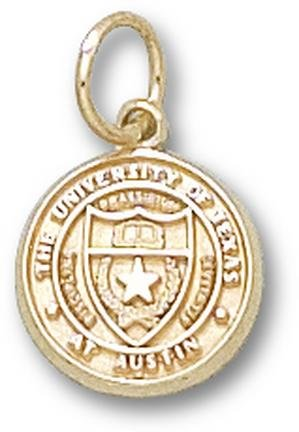 Texas Longhorns Seal 7 16 Charm - 14KT Gold Jewelry by Logo Art