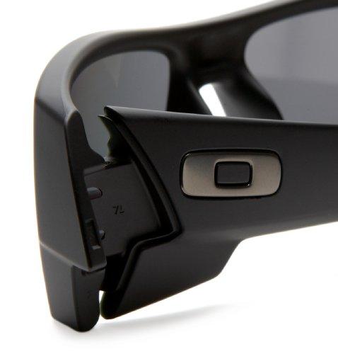 oakley matte black gascan sunglasses khp8  oakley matte black gascan sunglasses