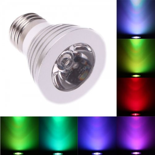 Zeetron E27 3W 85-240V 16 Color Changing Dimmable Led Bulb With Remote Control
