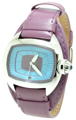 Bruno Banani Ladies Blue Dial Watch with Purple Leather Strap