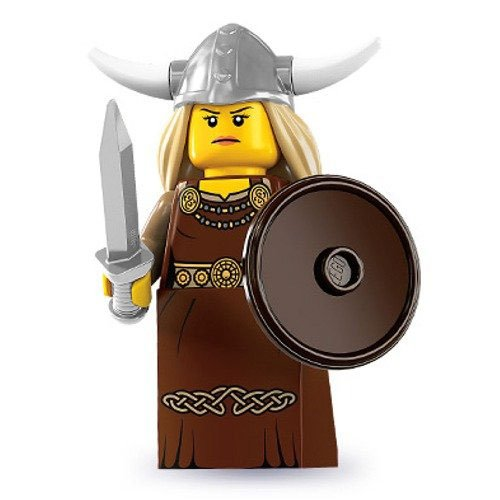 Lego Series 7 Viking Woman Mini Figure - 1