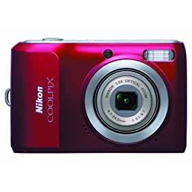 The Electronics World | Nikon Coolpix L20 10MP Digital Camera with 3.6 Optical Zoom and 3 inch LCD (Deep Red)
