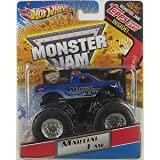 Mattel Hot Wheels Monster Jam Martial Law With Topps Trading Card 1:64