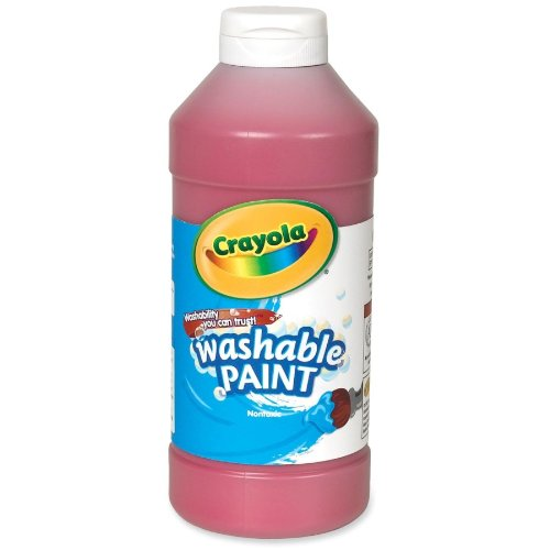 Crayola - Crayola Washable Paint, Squeeze Bottle, 16 Oz, Red, Sold as 1 Each, CYO542016038