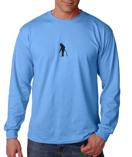 Sand Blaster Long Sleeve Cotton T-Shirt Tee Shirt Blue S