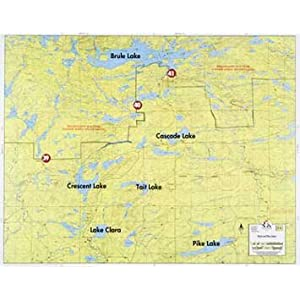 Fisher BWCA/Quetico Canoe Map Number 6