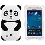 kwmobile H�lle TPU Silikon Case f�r Samsung Galaxy S4 Mini mit Panda Design - Handy Cover Schutzh�lle in Schwarz