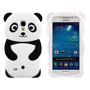 kwmobile Hülle TPU Silikon Case für Samsung Galaxy S4 Mini mit Panda Design - Handy Cover Schutzhülle in Schwarz Weiß