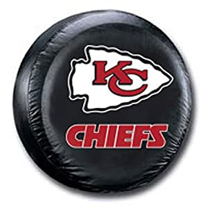 Kansas City Chiefs Black Spare Tire Cover by Fremont Die
