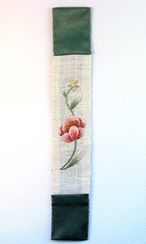 antique-style-apple-blossom-pink-and-green-hand-embroidered-botanical-bookmark-for-a-book-unique-pre
