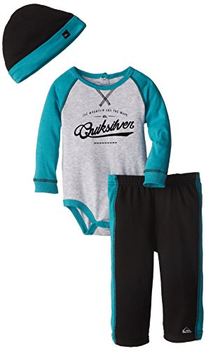 Quiksilver Baby-Boys Infant Gray Long Suit With Black Pull On Pants, Multi, 12 Months front-700538