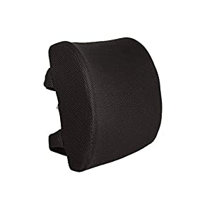 Everlasting Comfort 100% Pure Memory Foam Back Cushion - Orthopedic Design for Back Pain Relief - Lumbar Support Pillow With Dual Premium Adjustable Straps