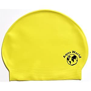Yellow Latex Swim Cap