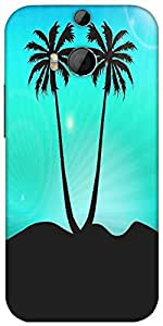 Snoogg Abstract Summer Background Designer Protective Back Case Cover For HTC M8